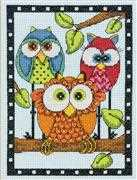 Owl Trio - Dimensions Cross Stitch Kit