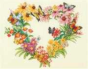 Dimensions Wildflower Wreath Cross Stitch Kit
