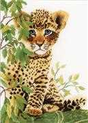 Lanarte Little Panther Cross Stitch Kit