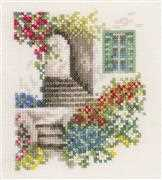 Lanarte Alley with Flowers Cross Stitch Kit