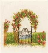 Lanarte Fence and Flowers Cross Stitch Kit