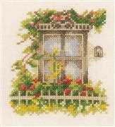 Lanarte Window and Flowers Cross Stitch Kit