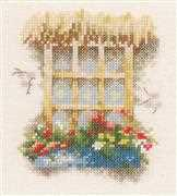 Window with Flowers - Lanarte Cross Stitch Kit