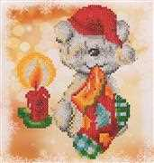 Needleart World Puppy Stocking Diamond Dotz Craft Kit