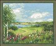 RIOLIS Path to the Lake Cross Stitch Kit