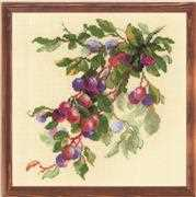 RIOLIS Branch of Plum Cross Stitch Kit