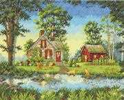 Dimensions Summer Cottage Cross Stitch Kit