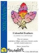 Mouseloft Coloured Feathers Cross Stitch Kit