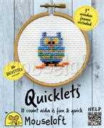 Mouseloft Quicklets - Blue Owl Cross Stitch Kit