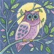Owl - Evenweave - Heritage Cross Stitch Kit