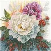 Lanarte White Rose Cross Stitch Kit