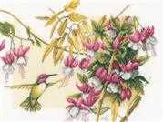 Lanarte Hummingbird and Flowers Cross Stitch Kit
