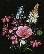 Lanarte Flowers Cross Stitch Kit