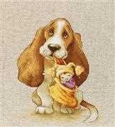 Luca-S Basset Cross Stitch Kit