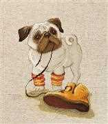 Luca-S Pug Cross Stitch Kit