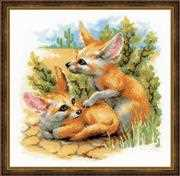 RIOLIS Desert Foxes Cross Stitch Kit