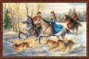 RIOLIS Russian Hunting Christmas Cross Stitch Kit