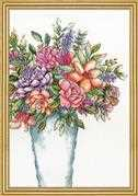 Design Works Crafts Aqua Vase Cross Stitch Kit
