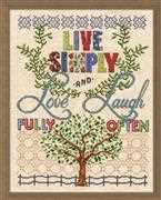 Design Works Crafts Live Simply Cross Stitch Kit