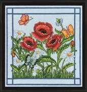 Design Works Crafts Poppies Cross Stitch Kit