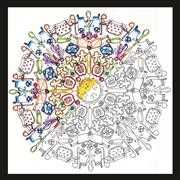 Zenbroidery - Kitchen Mandala - Design Works Crafts Embroidery Fabric