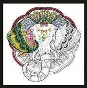 Design Works Crafts Zenbroidery - Elephant Embroidery Fabric
