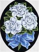 White Roses - Grafitec Tapestry Canvas
