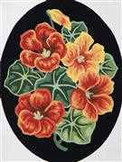 Nasturtiums - Grafitec Tapestry Canvas