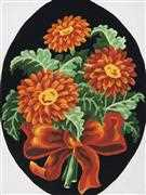 Rust Gerberas - Grafitec Tapestry Canvas