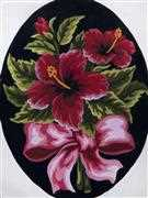 Hibiscus Bow - Grafitec Tapestry Canvas