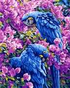 Blue Parrots - Grafitec Tapestry Canvas