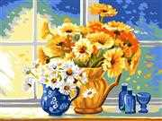 Yellow and White Daisies - Grafitec Tapestry Canvas