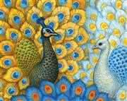 Exotic Peacocks - Grafitec Tapestry Canvas