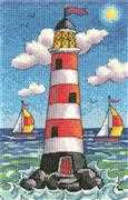 Lighthouse by Day - Aida - Heritage Cross Stitch Kit