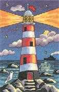 Lighthouse by Night - Aida - Heritage Cross Stitch Kit