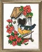 Birdhouse - Permin Cross Stitch Kit