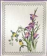 Bluetits and Iris - Permin Cross Stitch Kit