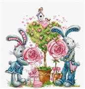 Luca-S Bunny Love Cross Stitch Kit