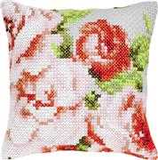 Red Floral Cushion - Luca-S Cross Stitch Kit