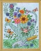 Design Works Crafts Watering Can Cross Stitch Kit