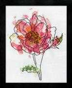 Design Works Crafts Pink Floral Cross Stitch Kit