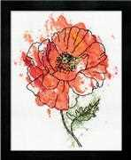 Design Works Crafts Peach Floral Cross Stitch Kit