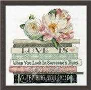 Design Works Crafts Love Is Wedding Sampler Cross Stitch Kit