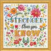 Stronger - Design Works Crafts Cross Stitch Kit