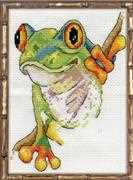 Design Works Crafts Tree Frog Cross Stitch Kit