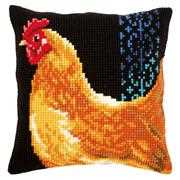 Vervaco Chicken Cushion Cross Stitch Kit