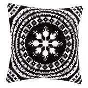 White and Black Cushion - Vervaco Cross Stitch Kit