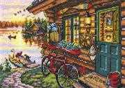 Dimensions Cabin View Cross Stitch Kit