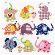 Slightly Dotty Elephants - Bothy Threads Cross Stitch Kit
