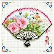 Rose Fan - Needleart World No Count Cross Stitch Kit